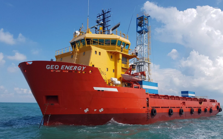PDE Offshore's survey vessel MV Geo Energy
